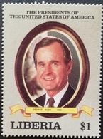 Liberia    1989 US Presidents  George Bush - Liberia