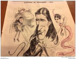 1869 Journal L'ECLIPSE N° 52 VICTORIEN SARDOU L'AUTEUR DE SERAPHINE Par GILL - THEODOROS AU CHÂTELET - Journaux - Quotidiens