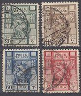 LIBIA (COLONIA ITALIANA) - 1924/1929 - Serie Completa Di 4 Valori Usati: Yvert 40B/43B, Come Da Immagine. - Libya