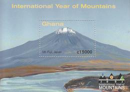 2002 Ghana International Year Of Mountains Geography Complete Set Of 2 Sheets  MNH - Ghana (1957-...)