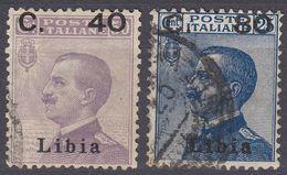 LIBIA (COLONIA ITALIANA) - 1922 - Serie Completa Di 2 Valori Usati: Yvert 38/39, Come Da Immagine. - Libya