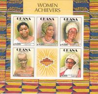 2003 Ghana Famous Women Miniature Sheet Of 5 Complete  MNH - Ghana (1957-...)