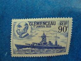 "1939-  Timbre Neuf, ++  N° 425        ""  Clémenceau  ""       Cote   1       Net   0.30 - France"