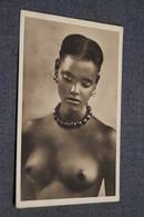 Ancienne Photo Carte Postale,nu Artistique Féminin,jeune Fille Aux Seins Nu ,Afrique,Sudanesin - Afrique Du Nord (Maghreb)