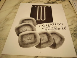 ANCIENNE PUBLICITE LU BISCUIT LEFEVRE COLLATION 1953 - Affiches