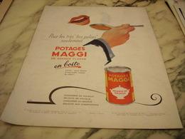 ANCIENNE PUBLICITE POTAGE  DE  MAGGI 1952 - Affiches