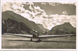 AK Flugplatz Bad Reichenhall, Segelflugzeug Um 1955 - Aérodromes