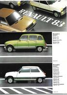 Catalogue Renault 1983 - Auto