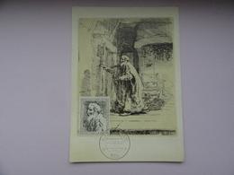 CARTE MAXIMUM CARD TOBIAS L'AVEUGLE BY REMBRANDT PAYS-BAS - Rembrandt