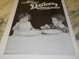 ANCIENNE PUBLICITE PATES ALIMENTAIRES DELICES DE FERRAND RENAUD 1932 - Affiches