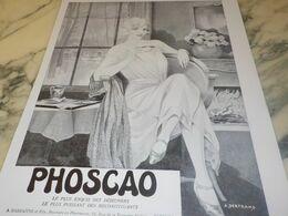 ANCIENNE PUBLICITE CHOCOLAT PHOSCAO 1932 - Affiches