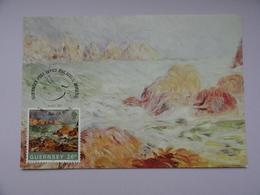 CARTE MAXIMUM CARD MARINE GUERNESEY BY AUGUSTE RENOIR GUERNSEY - Arts