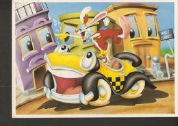 K. Disney 1987 Amblin License Red Squares Walt Street Car Rabbit Bunny Posted In 2001 Sverige Brev 1998 - Disney