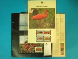 Trinidad & Tobago 1990 WWF Komplettes Kapitel Postfrisch MK FDC Vögel (WW162 - Trinité & Tobago (1962-...)