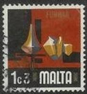 1973 1c3m Pottery, Used - Malta