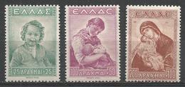Greece 1943. Scott #RAB1-3 (M) Surtax Aided Needy Children ** Complet Set - Fiscaux