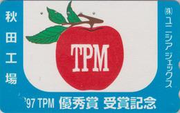 Télécarte Japon / 110-016 - Fruit POMME - APPLE Fruit Japan Phonecard - APFEL Obst TK - 65 - Alimentation
