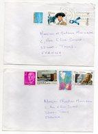 Espagne--1997--Lot De 3 Lettres De SALOU Pour TOURS-37 (France)--Jolies Compositions De Timbres--cachets - 1991-00 Lettres