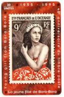 POLYNESIE FRANCAISE PF 37 LA JEUNE FILLE DE BORA BORA - French Polynesia