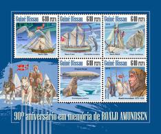 GUINEA BISSAU 2018 - R. Amundsen, Penguins. Official Issue - Pingueinos