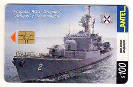URUGUAY, ARTIGAS Y MONTEVIDEO. ARMADA NACIONAL. Frégates De La Marine Nationale Année 2002 - Uruguay