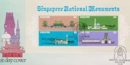 Singapore 1978 National Monuments Miniature Sheet FDC - Singapore (1959-...)