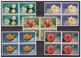 Antillen / Antilles 1955 Bloemen Flowers Fleurs MNH Block Of 4 - Curaçao, Nederlandse Antillen, Aruba