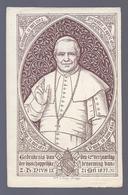 1877 GEDENKENIS VAN DEN 50e VERJAARDAG DER BISSCHOPPELIJKE BENOEMING PIUS IX Wwe J. PETYT BRUGGE - Images Religieuses