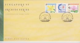 Singapore 1992 Orchids Serie II Singapore 95 FDC - Singapore (1959-...)