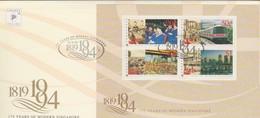 Singapore 1994 175 Years Of Modern Singapore Miniature Sheet FDC - Singapore (1959-...)