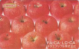 Télécarte Japon / 110-011 - Fruit POMME - APPLE Fruits Japan  Phonecard - APFEL Obst TK - 80 - Alimentation