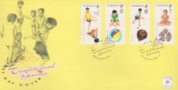Singapore 1997 Traditional Games FDC - Singapore (1959-...)