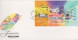 Singapore 1997 Transportation Definitive High Values Miniature Sheet FDC - Singapore (1959-...)