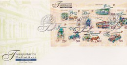 Singapore 1997 Transportation Definitive Low Values Miniature Sheet FDC - Singapore (1959-...)