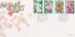 Singapore 1998 Orchids Joint Isue With Australia FDC - Singapore (1959-...)