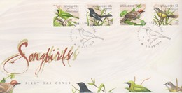 Singapore 1998 Songbirds FDC - Singapore (1959-...)