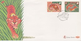 Singapore 1998 Year Of The Tiger FDC - Singapore (1959-...)