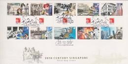 Singapore 1999 20th Century Singapore FDC - Singapore (1959-...)
