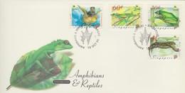 Singapore 1999 Amphibians And Reptiles FDC - Singapore (1959-...)