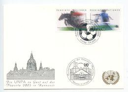 United Nations - Vienna 2005 Postcard Naposta Hannover, Scott 366-367 - Wien - Internationales Zentrum