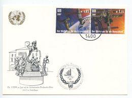 United Nations - Vienna 2007 Postcard Briefmarken-Borse Sindelfingen, Sc 409-410 - Wien - Internationales Zentrum