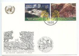 United Nations - Vienna 2007 Postcard Prague Exhibition, Scott 400-401 - Wien - Internationales Zentrum