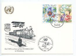 United Nations - Vienna 2007 Postcard ÖVEBRIA Hirtenberg, Scott 398-399 - Wien - Internationales Zentrum