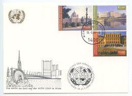 United Nations - Vienna 2008 Postcard WIPA Wien, Scott 327-328, 341 - Wien - Internationales Zentrum