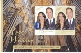 AUSTRALIA, 2011 ROYAL WEDDING MINISHEET MNH - 2010-... Elizabeth II