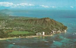 Hawaii Waikiki Diamond Head And Kapiolani Park Viewed From Panorama Air Tour Flight 1982 - Honolulu