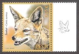 Estonian Fauna - Golden Jackal 2018 Estonia MNH Stamp Mi 934 - Estonie