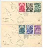 Vatican 1960 2 FDCs Scott 275-280 World Refugee Year - FDC