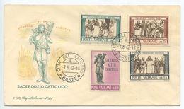 Vatican 1962 Cover Sacerdozio Cattolico, Scott 284-286, 330 - Vatican