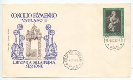 Vatican 1962 Cover Vatican Ecumenical Council - Closing Of The First Session - Covers & Documents